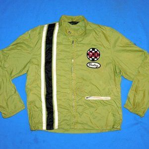 1970's INDIANAPOLIS 500 WINDBREAKER JACKET+PATCHES